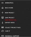 Save project as...